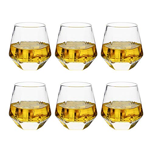 Glassware Whiskey Glasses Set 6Whiskey Tumbler For Bourbon Scotch Best As Old Fashioned Glasses 0
