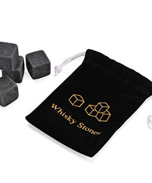 Gmark Twist Design Whiskey Glasses 10oz Set Of 2 With 4 Granite Chilling Whisky Rocks Scotch Glasses Old Fashioned Whiskey Tumblers Gift Pack Lead Free Crystal Clarity Glassware For Scotch GM2027 0 1 300x360