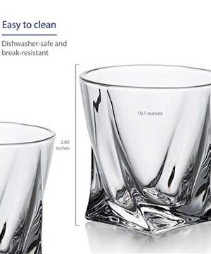 GoodGlassware Swirl Whiskey Glasses Set Of 4 10 Oz Premium Glass Tumblers With Heavy Base And Unique Swirl Design Lead Free Dishwasher Safe Perfect For Drinking Spirits 0 2 300x360