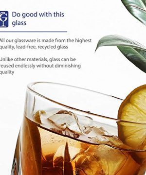 GoodGlassware Swirl Whiskey Glasses Set Of 4 10 Oz Premium Glass Tumblers With Heavy Base And Unique Swirl Design Lead Free Dishwasher Safe Perfect For Drinking Spirits 0 4 300x360