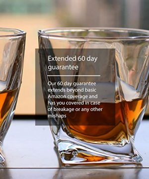 GoodGlassware Swirl Whiskey Glasses Set Of 4 10 Oz Premium Glass Tumblers With Heavy Base And Unique Swirl Design Lead Free Dishwasher Safe Perfect For Drinking Spirits 0 5 300x360