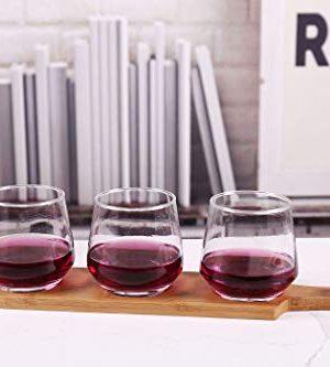 HinLot 27 Dia Base Beer Tasting Flight Set Wine Glasses Flight Boards Jars Serving Paddles Round 1 0 1 300x333