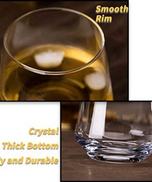 JBHO Durability Whiskey Glasses Set Of 4 1285 Ounce Rock Glasses Non Lead Crystal Glass Value For Money Elegant Cocktail Glasses With Gift Box 0 1 300x360