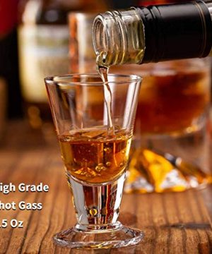 JBHO Hand Blown Crystal Double Old Fashioned Cocktail Solid Whiskey Glasses Rocks Glasses Lowball Glasses 12 Ounce Set Of 2 Perfect Size For Oversized Ice Cubes Extra 15 Ounce Shot Glasses 0 3 300x360