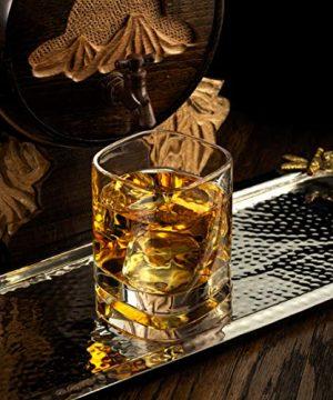 JoyJolt Aqua Vitae Premium Whiskey Glass Set Of 2 Square Whiskey Glasses With Off Set Base Old Fashioned Rocks Glasses For Scotch And Bourbon Whiskey Tumbler Gifts For Men 0 2 300x360