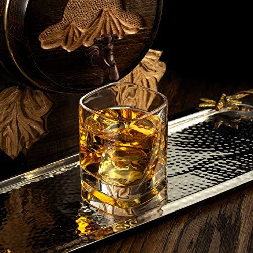 JoyJolt Aqua Vitae Premium Whiskey Glass Set Of 2 Square Whiskey Glasses With Off Set Base Old Fashioned Rocks Glasses For Scotch And Bourbon Whiskey Tumbler Gifts For Men 0 2