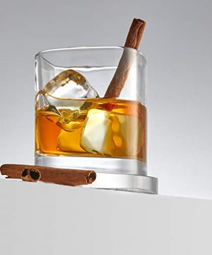 JoyJolt Aqua Vitae Premium Whiskey Glass Set Of 2 Square Whiskey Glasses With Off Set Base Old Fashioned Rocks Glasses For Scotch And Bourbon Whiskey Tumbler Gifts For Men 0 4 300x360