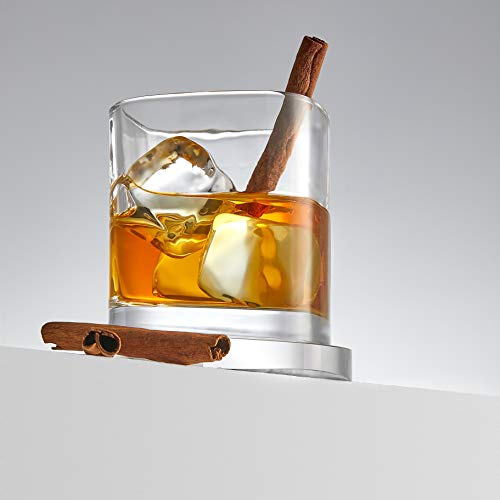 JoyJolt Aqua Vitae Premium Whiskey Glass Set Of 2 Square Whiskey Glasses With Off Set Base Old Fashioned Rocks Glasses For Scotch And Bourbon Whiskey Tumbler Gifts For Men 0 4