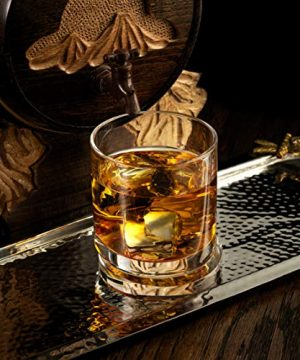 JoyJolt Aqua Vitae Whiskey Glass Set Of 2 Round Whiskey Glasses With Off Set Base Old Fashioned Rocks Glasses For Scotch And Bourbon Unique Whiskey Tumbler Gifts For Men 0 2 300x360