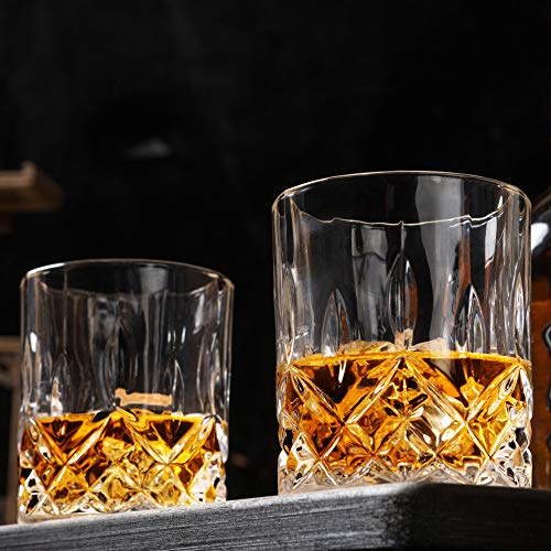 KANARS Old Fashioned Whiskey Glasses With Luxury Box 10 Oz Rocks Barware For Scotch Bourbon Liquor And Cocktail Drinks Set Of 4 0 1