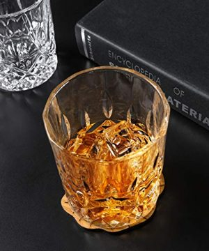 KANARS Old Fashioned Whiskey Glasses With Luxury Box 10 Oz Rocks Barware For Scotch Bourbon Liquor And Cocktail Drinks Set Of 4 0 2 300x360