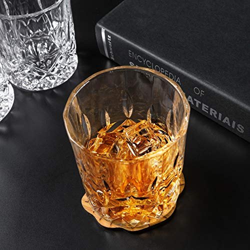 KANARS Old Fashioned Whiskey Glasses With Luxury Box 10 Oz Rocks Barware For Scotch Bourbon Liquor And Cocktail Drinks Set Of 4 0 2