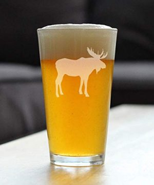 Moose 16 Oz Pint Glass For Beer Cabin Themed Gifts Or Rustic Decor For Men And Women Fun Drinking Or Party Glasses 0 0 300x360