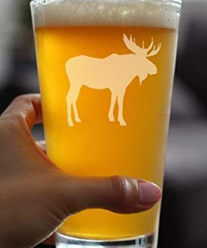 Moose 16 Oz Pint Glass For Beer Cabin Themed Gifts Or Rustic Decor For Men And Women Fun Drinking Or Party Glasses 0 1 300x360
