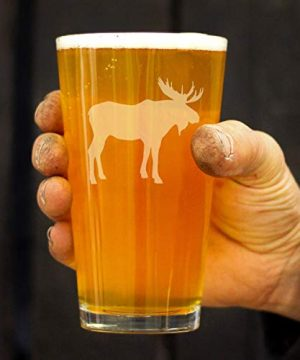 Moose 16 Oz Pint Glass For Beer Cabin Themed Gifts Or Rustic Decor For Men And Women Fun Drinking Or Party Glasses 0 2 300x360