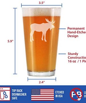Moose 16 Oz Pint Glass For Beer Cabin Themed Gifts Or Rustic Decor For Men And Women Fun Drinking Or Party Glasses 0 3 300x360
