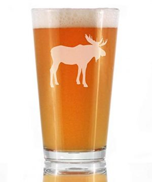 Moose 16 Oz Pint Glass For Beer Cabin Themed Gifts Or Rustic Decor For Men And Women Fun Drinking Or Party Glasses 0 300x360