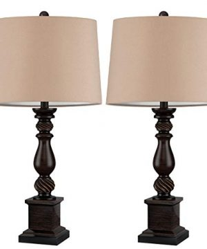 Oneach Table Lamp Set Of 2 For Bedroom Rustic Bedside Table Desk Lamps For Living Room Study Office 24 Minimalist Lamps Set Bronze 0 300x360