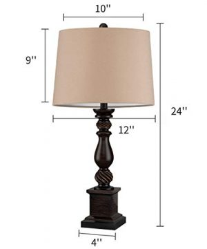 Oneach Table Lamp Set Of 2 For Bedroom Rustic Bedside Table Desk Lamps For Living Room Study Office 24 Minimalist Lamps Set Bronze 0 4 300x360
