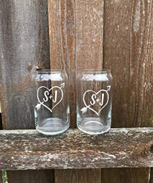 PAIR Personalized Beer Can Glasses Christmas Gift For Husband Wife Wedding Toasting Flutes Wine Glass Mr And Mrs Cups His And Hers 0 1 300x360