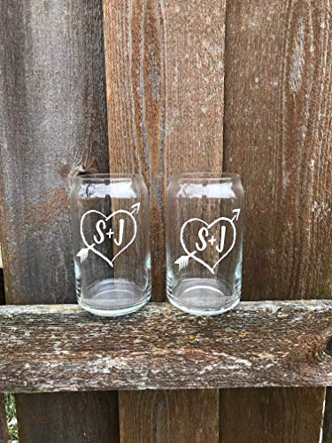 PAIR Personalized Beer Can Glasses Christmas Gift For Husband Wife Wedding Toasting Flutes Wine Glass Mr And Mrs Cups His And Hers 0 1