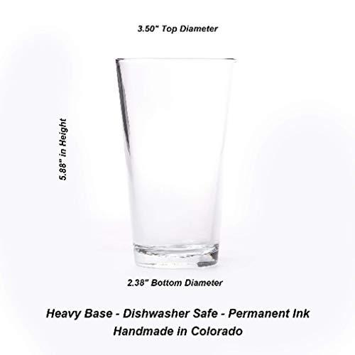 Pint Glasses By Black Lantern Handmade Craft Beer Glasses And Bar Glassware Rustic Moose Design Set Of Two 16oz Glasses 0 0