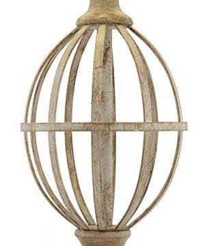 Sloan Modern Farmhouse Table Lamps Set Of 2 Faux Light Oak Wood Open Orb Cage Oatmeal Tapered Drum Shade For Living Room Bedroom Bedside Nightstand Office Family Regency Hill 0 3 300x360