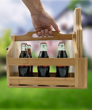 Sorbus Wooden Bottle Caddy With Opener Sampler Boards Drink Holder For Beer Soda Perfect For Bar Pub Restaurant Brew Fest Party And More Bamboo 0 1 300x360