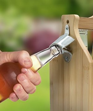 Sorbus Wooden Bottle Caddy With Opener Sampler Boards Drink Holder For Beer Soda Perfect For Bar Pub Restaurant Brew Fest Party And More Bamboo 0 3 300x360
