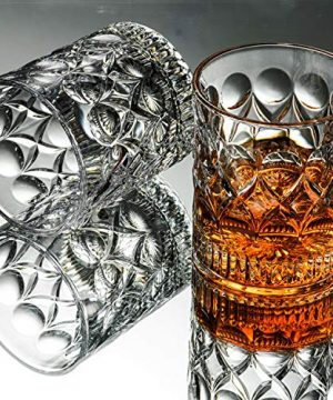 Whiskey Glass Set Of 2 Mountain Crystal Wedge Glass Old Fashioned Tasting Tumblers Funny Gift Box For Dad 0 0 300x360
