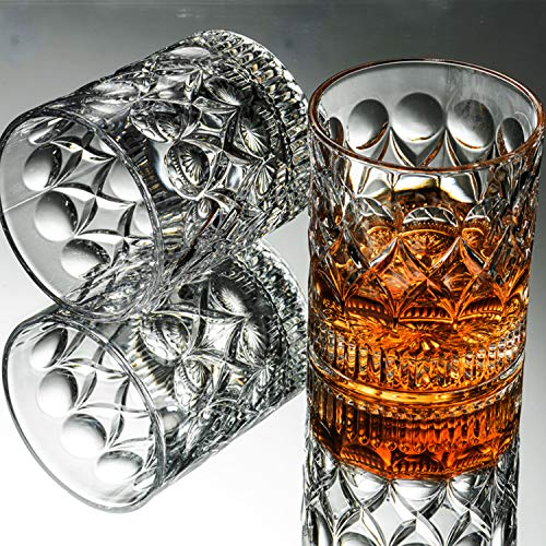 Whiskey Glass Set Of 2 Mountain Crystal Wedge Glass Old Fashioned Tasting Tumblers Funny Gift Box For Dad 0 0