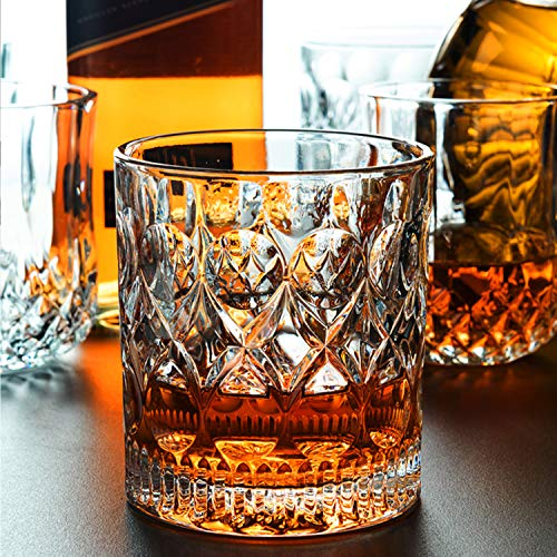 Whiskey Glass Set Of 2 Mountain Crystal Wedge Glass Old Fashioned Tasting Tumblers Funny Gift Box For Dad 0 1