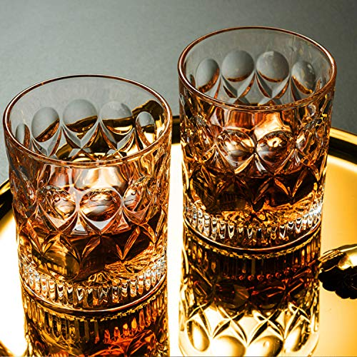 Whiskey Glass Set Of 2 Mountain Crystal Wedge Glass Old Fashioned Tasting Tumblers Funny Gift Box For Dad 0 2