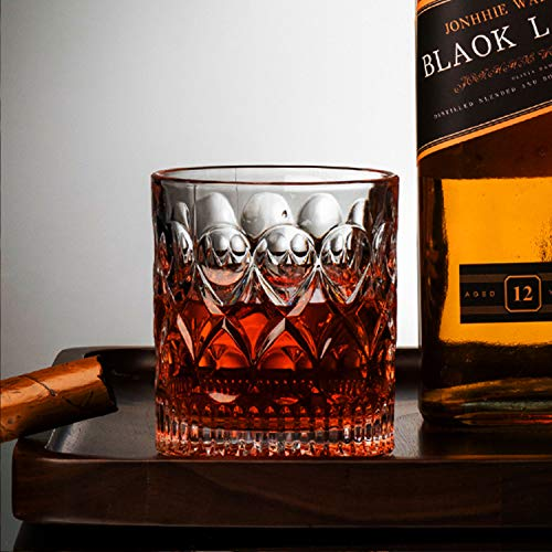 Whiskey Glass Set Of 2 Mountain Crystal Wedge Glass Old Fashioned Tasting Tumblers Funny Gift Box For Dad 0 4