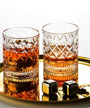 Whiskey Glass Set Of 2 Mountain Crystal Wedge Glass Old Fashioned Tasting Tumblers Funny Gift Box For Dad 0 5 300x360