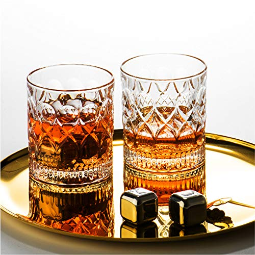 Whiskey Glass Set Of 2 Mountain Crystal Wedge Glass Old Fashioned Tasting Tumblers Funny Gift Box For Dad 0 5