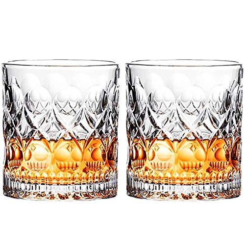 Whiskey Glass Set Of 2 Mountain Crystal Wedge Glass Old Fashioned Tasting Tumblers Funny Gift Box For Dad 0