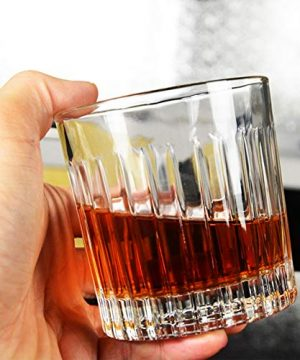 Whiskey Glass Set Of 4 8 Ounce Old Fashioned Rocks Glasses Tumblers Glassware For Cocktail Scotch Bourbon Gin Voldka Brandy 0 0 300x360