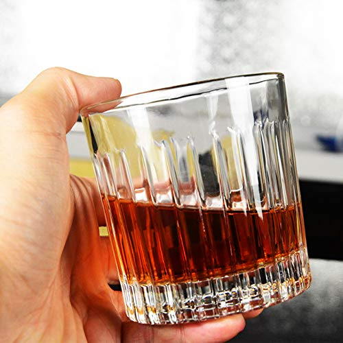 Whiskey Glass Set Of 4 8 Ounce Old Fashioned Rocks Glasses Tumblers Glassware For Cocktail Scotch Bourbon Gin Voldka Brandy 0 0