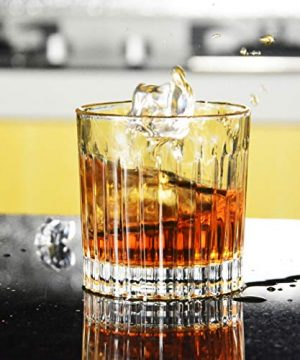 Whiskey Glass Set Of 4 8 Ounce Old Fashioned Rocks Glasses Tumblers Glassware For Cocktail Scotch Bourbon Gin Voldka Brandy 0 2 300x360