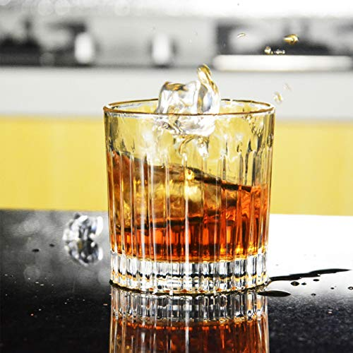 Whiskey Glass Set Of 4 8 Ounce Old Fashioned Rocks Glasses Tumblers Glassware For Cocktail Scotch Bourbon Gin Voldka Brandy 0 2