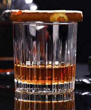 Whiskey Glass Set Of 4 8 Ounce Old Fashioned Rocks Glasses Tumblers Glassware For Cocktail Scotch Bourbon Gin Voldka Brandy 0 3 300x360
