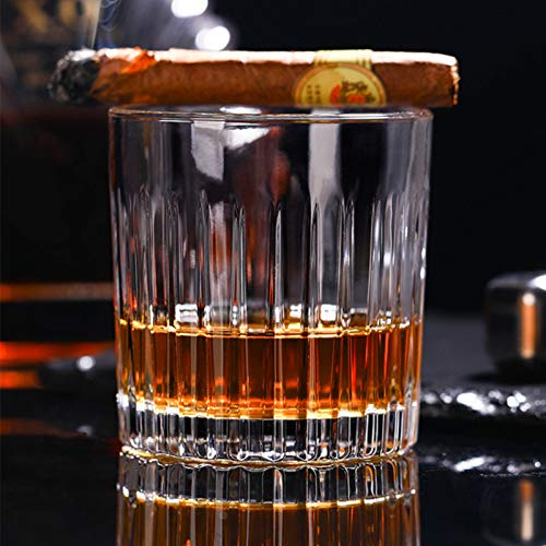 Whiskey Glass Set Of 4 8 Ounce Old Fashioned Rocks Glasses Tumblers Glassware For Cocktail Scotch Bourbon Gin Voldka Brandy 0 3