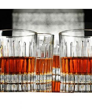 Whiskey Glass Set Of 4 8 Ounce Old Fashioned Rocks Glasses Tumblers Glassware For Cocktail Scotch Bourbon Gin Voldka Brandy 0 4 300x360