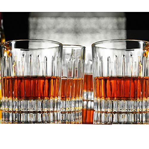 Whiskey Glass Set Of 4 8 Ounce Old Fashioned Rocks Glasses Tumblers Glassware For Cocktail Scotch Bourbon Gin Voldka Brandy 0 4