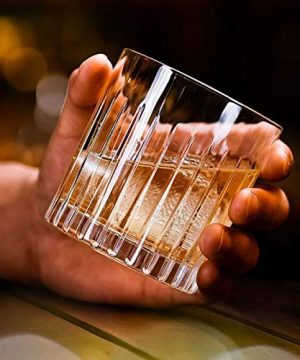Whiskey Glass Set Of 4 8 Ounce Old Fashioned Rocks Glasses Tumblers Glassware For Cocktail Scotch Bourbon Gin Voldka Brandy 0 5 300x360