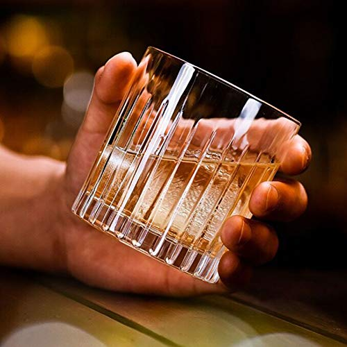 Whiskey Glass Set Of 4 8 Ounce Old Fashioned Rocks Glasses Tumblers Glassware For Cocktail Scotch Bourbon Gin Voldka Brandy 0 5