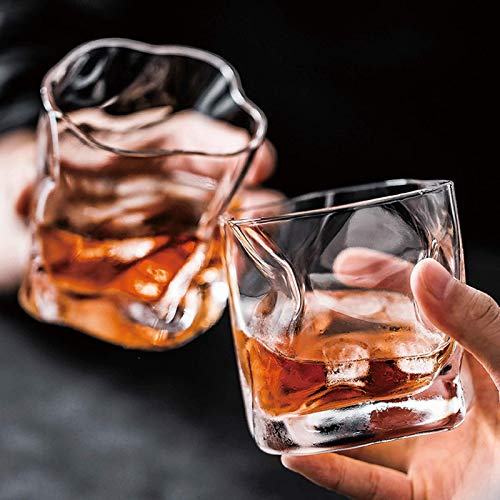 Whiskey Glasses 11oz Set Of 6 Rocks Glasses Old Fashioned Glass Whiskey Glass Drinking Bourbon Scotch Glasses Old Fashioned Cocktail LoversStyle Glassware For BourbonRum Twisted Cup Transparent 0 1