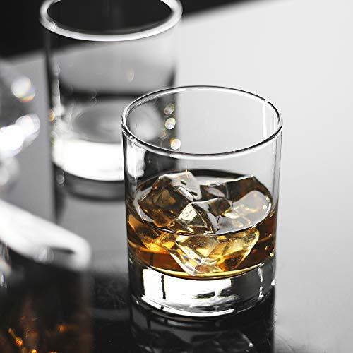 Whiskey Glasses Premium 11 OZ Scotch Glasses Set Of 6 Old Fashioned Whiskey GlassesPerfect Idea For Scotch LoversStyle Glassware For BourbonRum GlassesBar Whiskey GlassesClear 0 0
