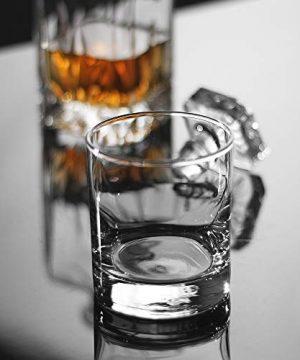 Whiskey Glasses Premium 11 OZ Scotch Glasses Set Of 6 Old Fashioned Whiskey GlassesPerfect Idea For Scotch LoversStyle Glassware For BourbonRum GlassesBar Whiskey GlassesClear 0 2 300x360